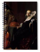 A Gentleman And A Lady With Musical Instruments Spiral Notebook