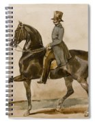 A Gentleman On Horseback With A Subsidiary Study Of The Horse's Head Spiral Notebook
