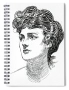 A Gibson Girl By Charles Dana Gibson Spiral Notebook