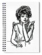 A Gibson Girl Posing Spiral Notebook