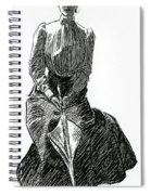 A Gibson Girl With Parasol Spiral Notebook