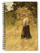 A Girl Harvesting Hay Spiral Notebook