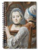 A Girl Wearing A Bonnet Spiral Notebook