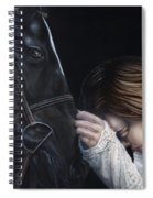 A Girl Who Loves Horses Spiral Notebook