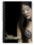 A Girl With A Dragon Tattoo Spiral Notebook