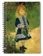 A Girl With A Watering Can 1876 Spiral Notebook