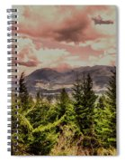 A Glimpse Of The Mountains Spiral Notebook