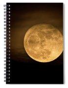 A Golden Super Moon On The Rise  Spiral Notebook