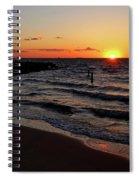 A Grand Beach Sunset Spiral Notebook