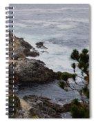 A Grey Day At Big Sur Spiral Notebook