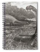 A Group Of Brontosaurs, Or Thunder Spiral Notebook