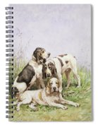 A Group Of French Hounds Spiral Notebook