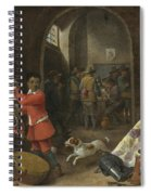 A Guardroom Interior Spiral Notebook