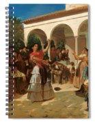 A Gypsy Dance In The Gardens Of Alcazar Spiral Notebook