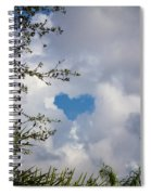 A Heart In The Sky Spiral Notebook