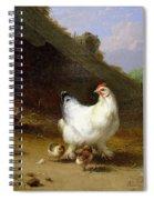 A Hen With Her Chicks Spiral Notebook