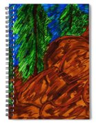 A Hike On A Park Trail Spiral Notebook