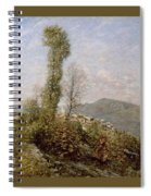 A Hillside Village In Provence Henry Herbert La Thangue Spiral Notebook