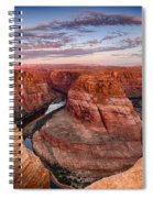 A Horseshoe Bend Morning  Spiral Notebook