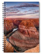 A Horseshoe Bend Morning  Spiral Notebook