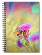 A Hoverfly On Abstract #h3 Spiral Notebook