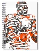 A J Green Cincinnati Bengals Pixel Art 5 Spiral Notebook