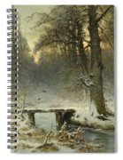 A January Evening In The Woods Spiral Notebook