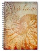 A La Mer Nautilus Spiral Notebook