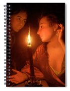 A Lady Admiring An Earring By Candlelight Spiral Notebook