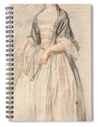 A Lady With A Fan Spiral Notebook