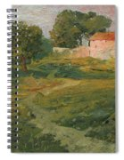 A Landscape In Vicinity Of Strijigorod Spiral Notebook