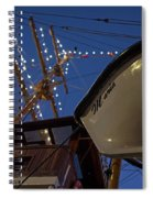 A Lifeboat Named Maria Boston Tall Ships 2017 Lighted Mast Boston Ma Spiral Notebook