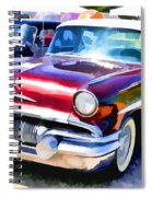 A Line Of Classic Antique Cars 9 Spiral Notebook