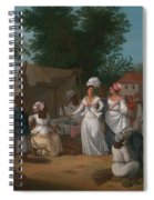 A Linen Market With A Linen-stall And Vegetable Seller In The West Indies Spiral Notebook