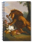 A Lion And Tiger In Combat Spiral Notebook