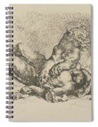 A Lioness Mauling The Chest Of An Arab Spiral Notebook