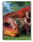 A Little Girl And Her Dragon Spiral Notebook