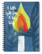 A Little Light- Art By Linda Woods Spiral Notebook
