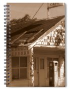 A Little Weathered Gas Station Spiral Notebook