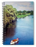 A Lone Boat Spiral Notebook