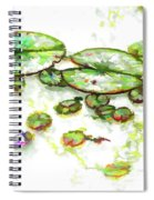 A Lotus Leaf Spiral Notebook