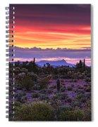 A Magical Desert Morning  Spiral Notebook