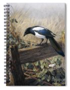 A Magpie Observing Field Mice Spiral Notebook