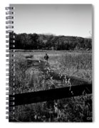 A Man And His Dog - Square Spiral Notebook