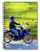 Heading To Work In Rural Thailand. Spiral Notebook
