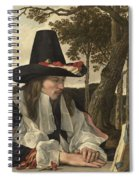 A Man Reading, Anonymous, C. 1660 Spiral Notebook
