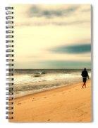 A Man's Serenity - Jersey Shore Spiral Notebook