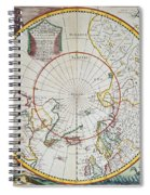 A Map Of The North Pole Spiral Notebook