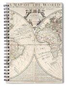 A Map Of The World Spiral Notebook