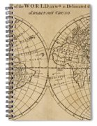 A Map Of The World With The Voyage Of Robinson Crusoe Spiral Notebook